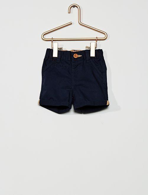 Short en twill                                                                     bleu marine