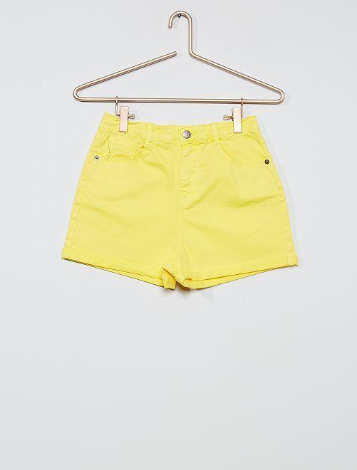 Short en twill coloré                                             jaune