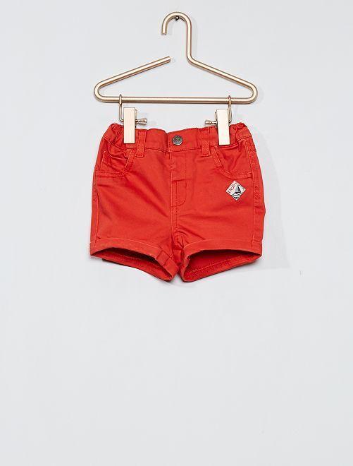 Short en twill                                                                 rouge