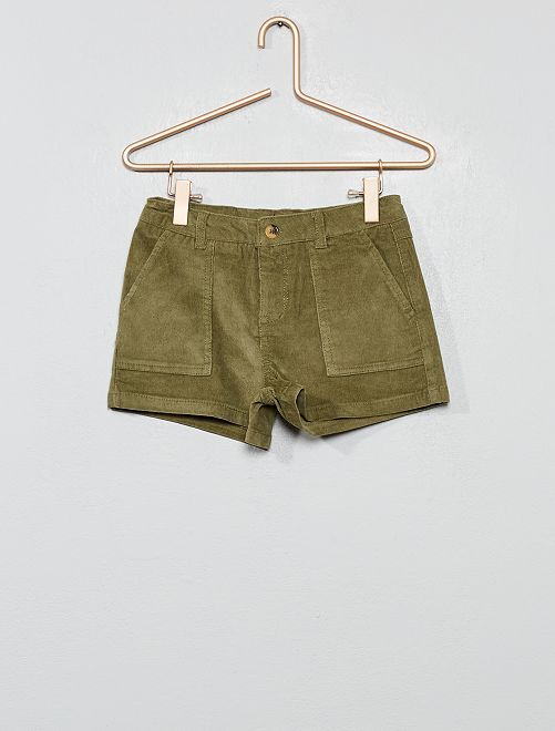 Short en velours côtelé                                                                 vert lichen Fille