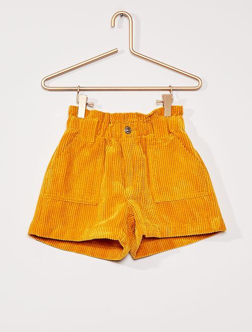 Short en velours                                         JAUNE