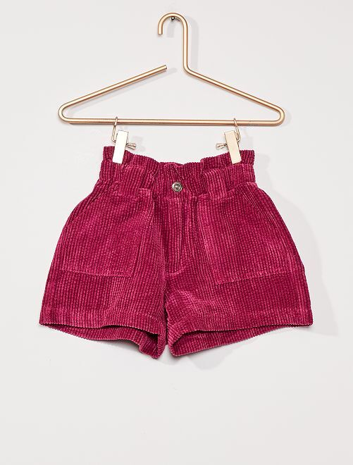 Short en velours                                 prune