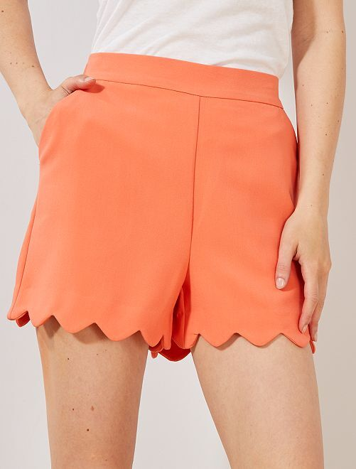Short finition corolle                                                                             orange corail Femme