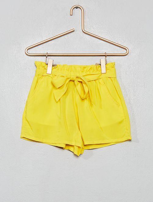 Short fluide imprimé 'fruits'                                         jaune