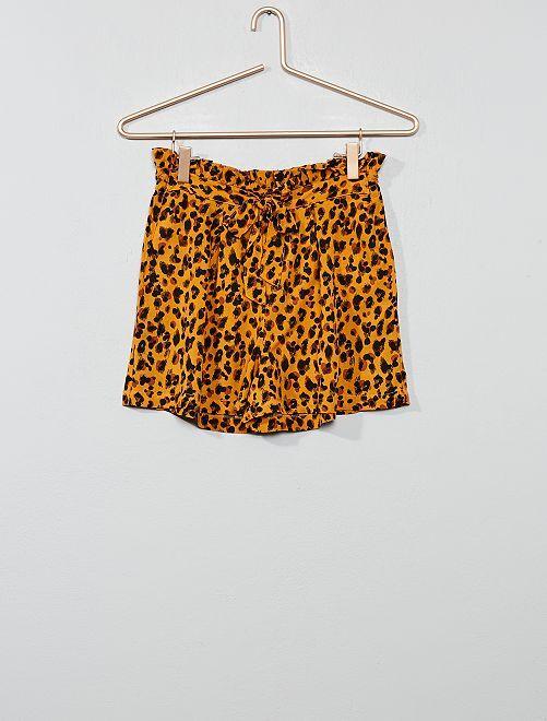 Short fluide imprimé                             léopard