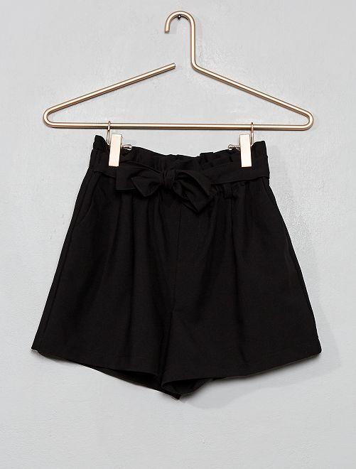 Short fluide 'paper bag'                             noir