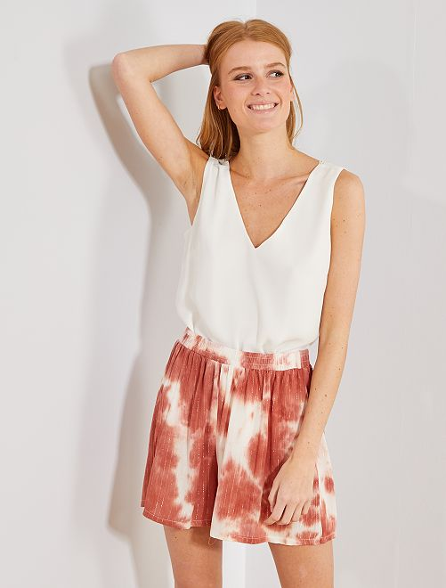Short fluide tie and dye                             rose Femme