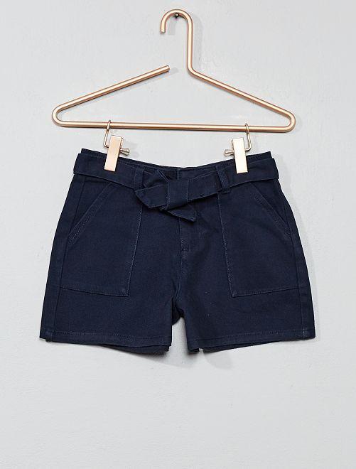 Short large avec ceinture                                         bleu marine Fille