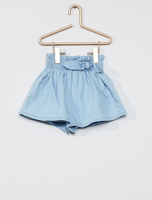 Short large en denim                             bleached