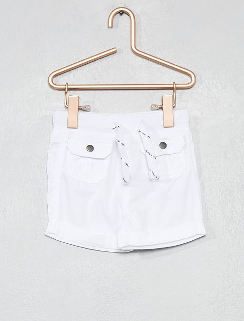 Short multipoches                                                     blanc