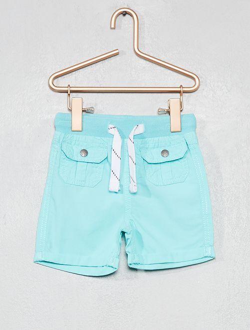 Short multipoches                                                         bleu turquoise Bébé garçon