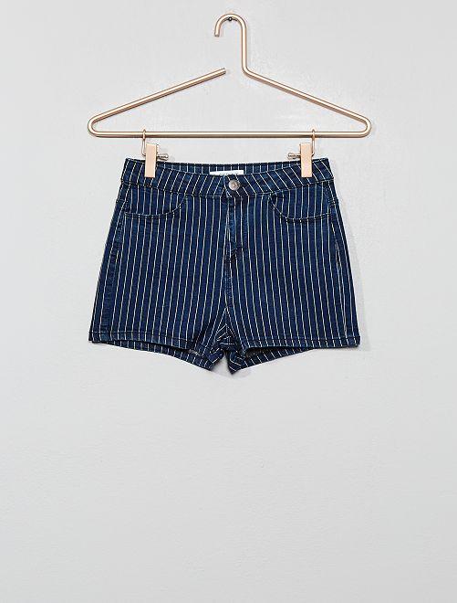Short rayé                                                                 bleu