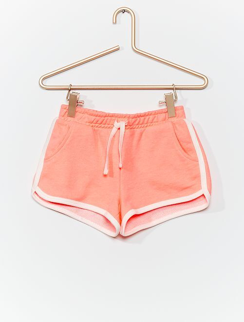 Short sport en molleton                                                                 rose fluo