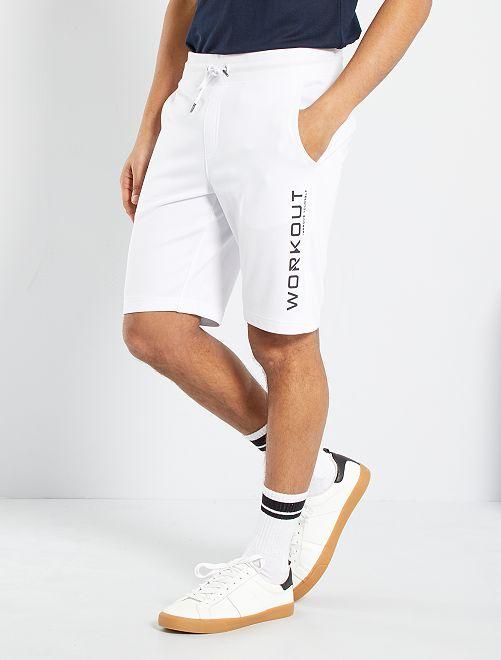 Short sportswear molletonné                                         blanc