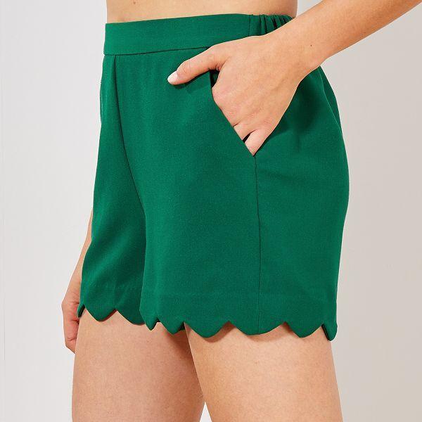 shorty vert femme