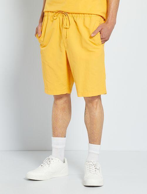 Short taille élastiquée                                         jaune