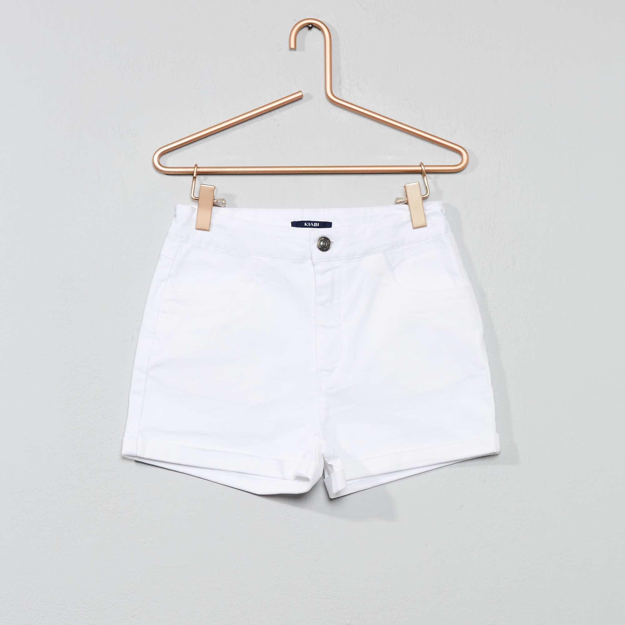30ac3f5e38 Short taille haute Fille adolescente - blanc - Kiabi - 8,10€