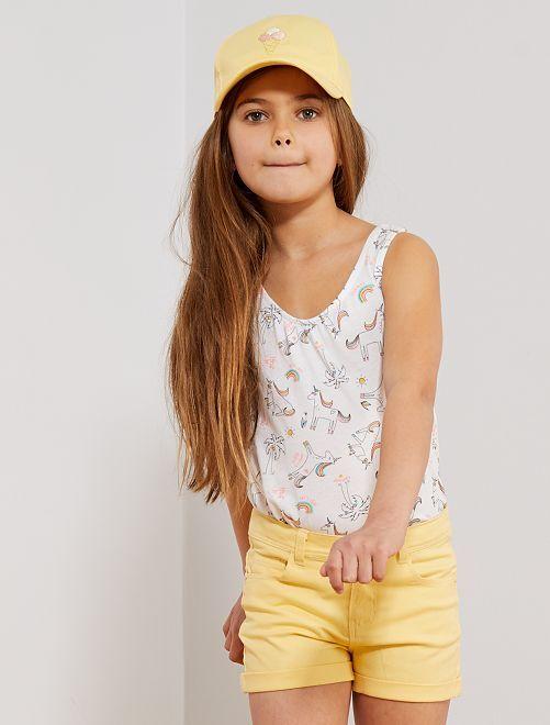 Short uni                                                                 jaune