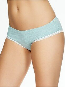 Shorty coton galons dentelle