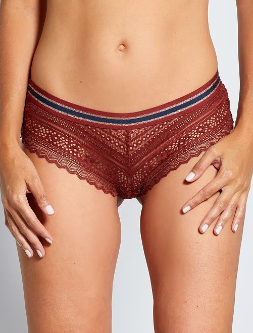 Shorty dentelle                                                     bordeaux