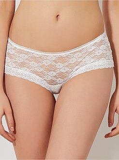 Culotte, shorty, string blanc - Shorty dentelle 'Mojito Lingerie'