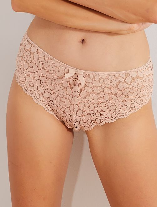 Shorty dentelle                                                                                                                                         rose