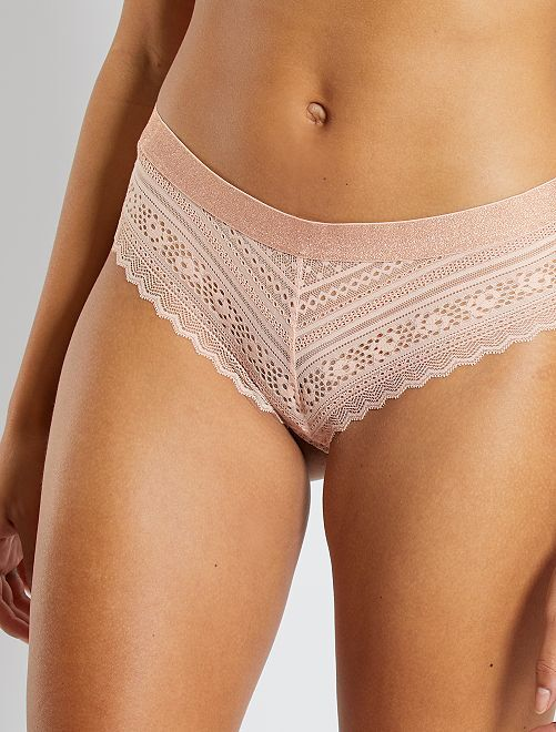 Shorty dentelle                                                     rose pâle