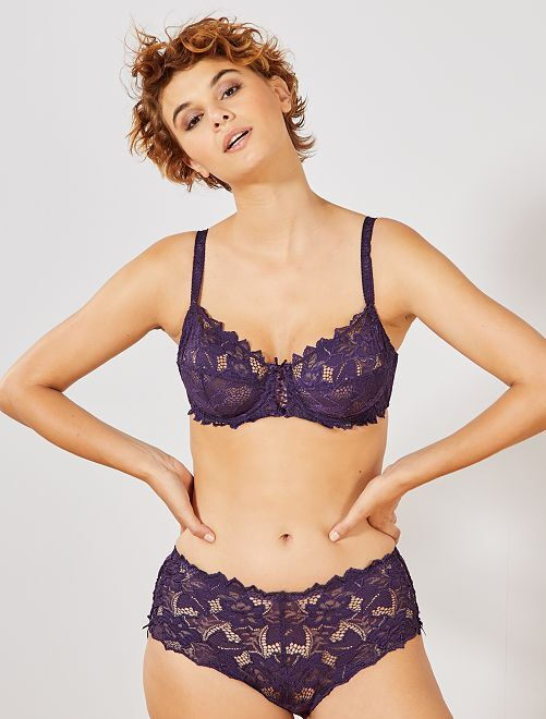 Shorty dentelle 'Sans Complexe'                                                                                         violet