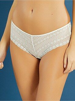 Culotte, shorty, string - Shorty en dentelle stretch - Kiabi