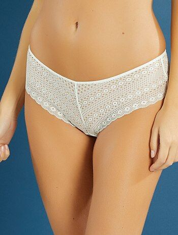 Shorty en dentelle stretch