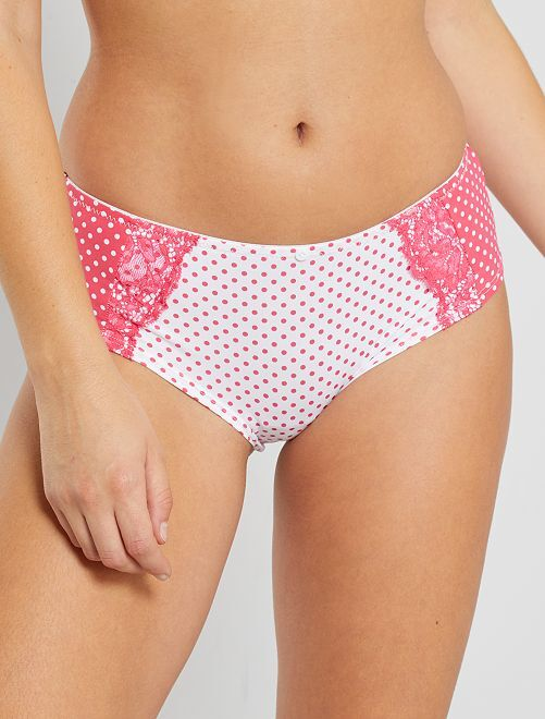 Shorty 'Envie de Lingerie'                             rose/blanc