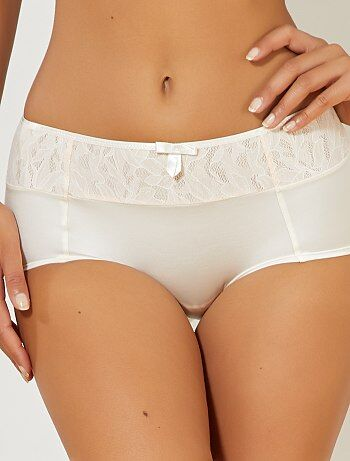 Grande taille femme - Shorty Ideal Beauty Lace de 'Playtex' - Kiabi
