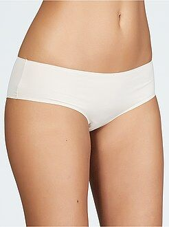 Culotte, shorty, string beige - Shorty microfibre finitions extra plates