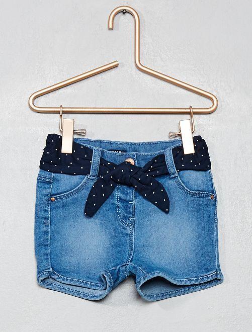 Shot en jean                             bleu