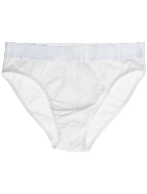 Slip en coton avec taille contrastée                                                                                                     blanc Homme
