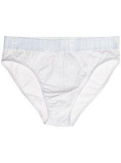 Homme du S au XXL Slip en coton avec taille contrastée