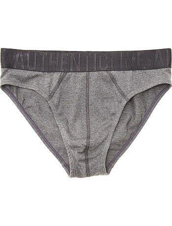 Slip en coton avec taille contrastée