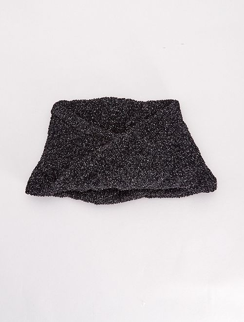 Snood en maille pailletée                                         noir