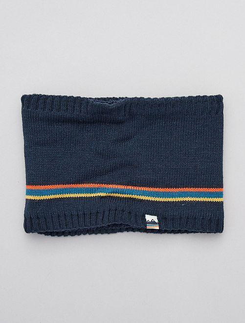 Snood en maille tricot                             bleu marine