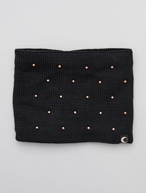Snood en maille tricot                                         noir