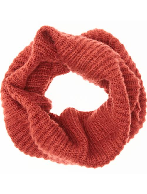 Snood maille tricot                     ROUGE Femme