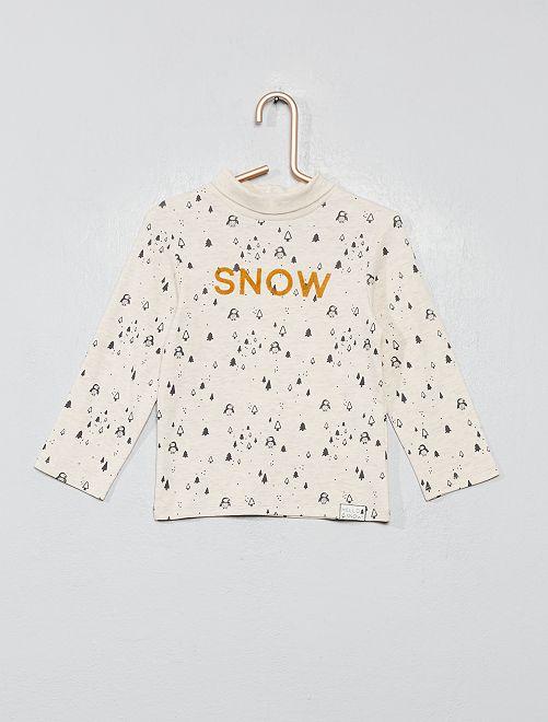 Sous-pull à col roulé                                         beige/snow