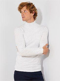Homme du S au XXL Sous-pull à col roulé en maille jersey stretch