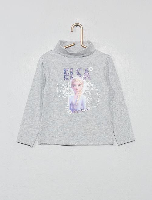 Sous-pull à pois 'La Reine des Neiges'                                         gris/reine des neiges Fille