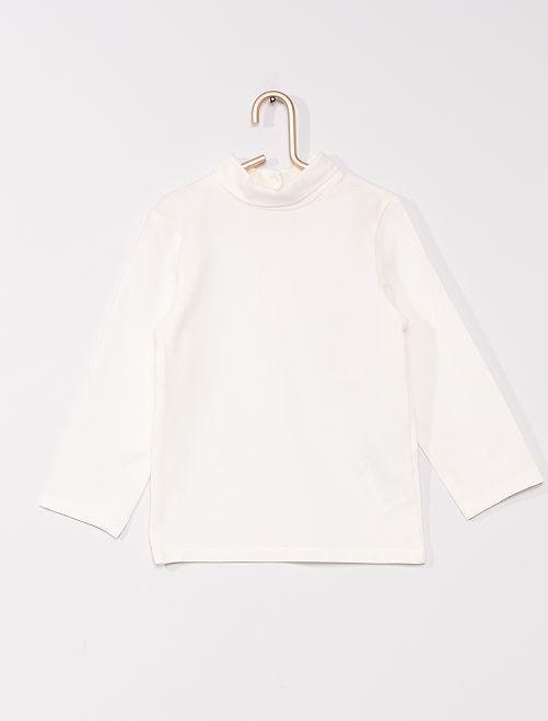 Sous-pull col roulé éco-conçu                                                                 blanc