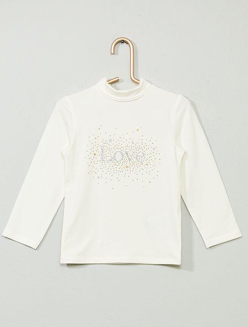 Sous-pull coton bio 'éco-conception'                                                                             blanc/love