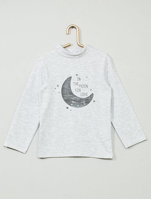 Sous-pull coton bio 'éco-conception'                                                                             gris/lune