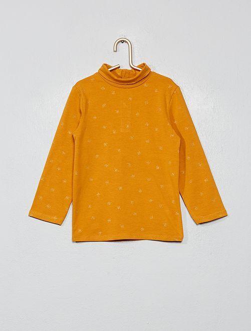 Sous-pull coton bio 'éco-conception'                                                                                                                 jaune