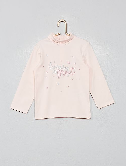Sous-pull coton bio 'éco-conception'                                                                                                                 rose