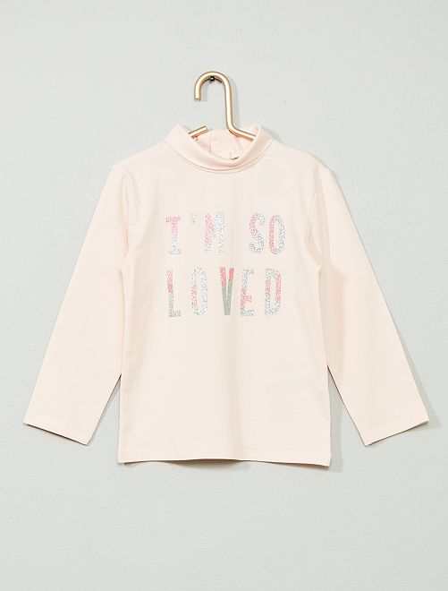Sous-pull coton bio 'éco-conception'                                                                                                                 rose/loved